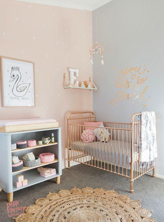 couleurs douces pour chambre bébé fille