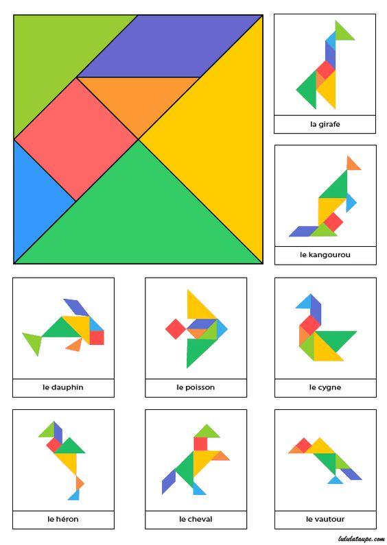 Tangram a imprimer