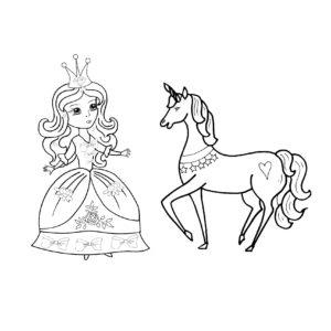 dessin-a-colorier-licorne-et-princesse-11