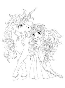 dessin-a-colorier-licorne-et-princesse-3