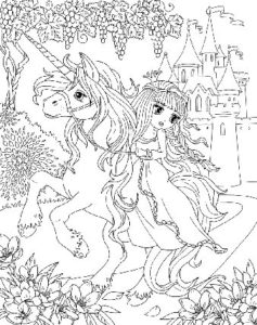dessin-a-colorier-licorne-et-princesse-6