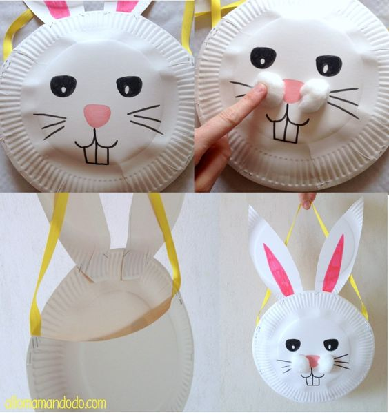 activités pâques création sac lapin