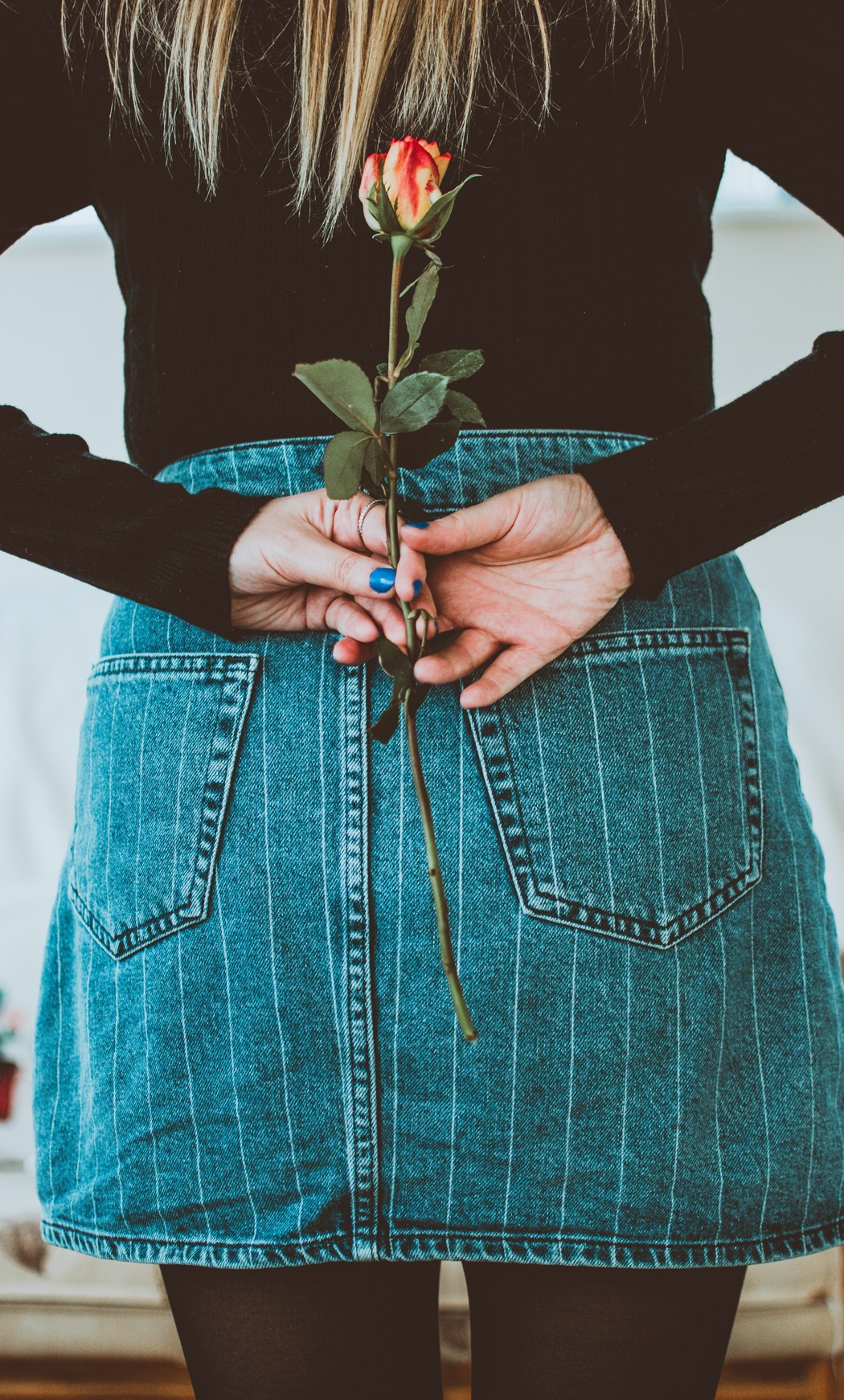 jupe jeans collants noirs